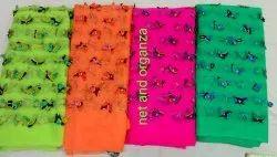 Net Flower Work Fabric