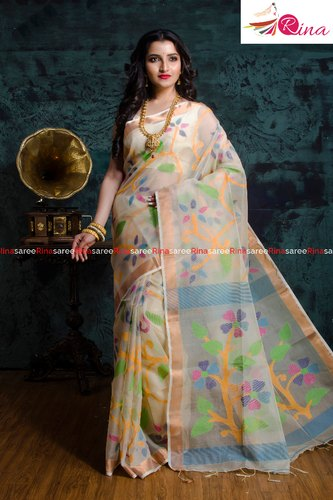 Handloom Meena Mosline Saree