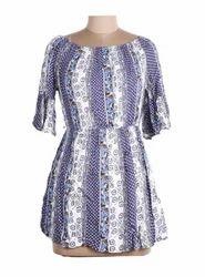 Ladies Floral Dot Print Dress