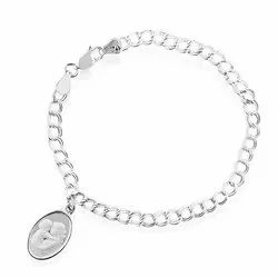 Casual Wear Mother and Baby Charm Bracelet and Pendant Set in Sterling Silver