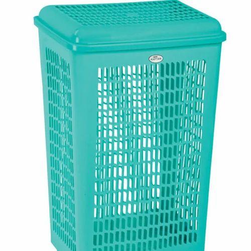 Light Green Plastic Laundry Basket