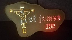 Jesus Christ Colorful LED Name Plate By Aranaut