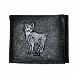 Aries Zodiac Sign Men Leather Wallet