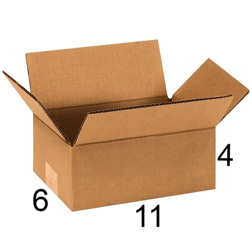 Rectangle 11 x 6 x 4 inch Packaging Corrugated Box