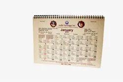 Table Calendars Paper Print
