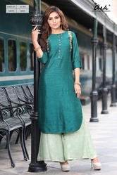 Plain Silk Base Kurti