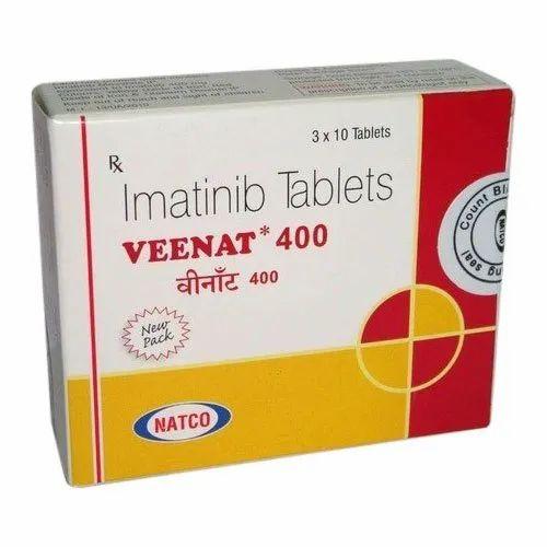 Imatinib 400mg Veenat Tablets, Packaging Type: Box