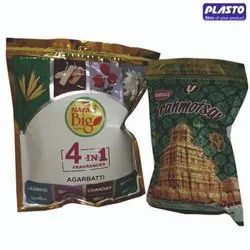Printed Bopp, Pet Zipper & Standy Agarbatti Pouch, Packaging Type: Packet