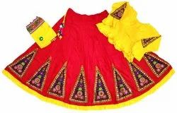 Indian Ethnic Gujarati Embroidered Ghagra Choli