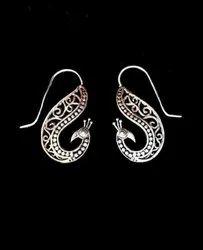 Brass Peacock Design Earring