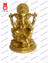 Lord Ganesha Sitting On Rd.Lotus Base Statue