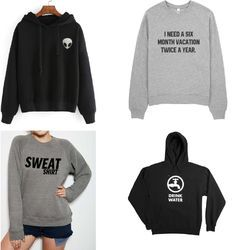 Unisex Hooded Sweatshirt With Or Without Hood