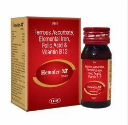 Ferrous Ascorbate Elemental Iron Folic Acid & Vitamin B12 Drops