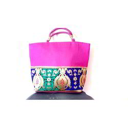 Raw Silk Ladies Handbag