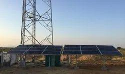 Galvanized Iron Solar Telecom Tower