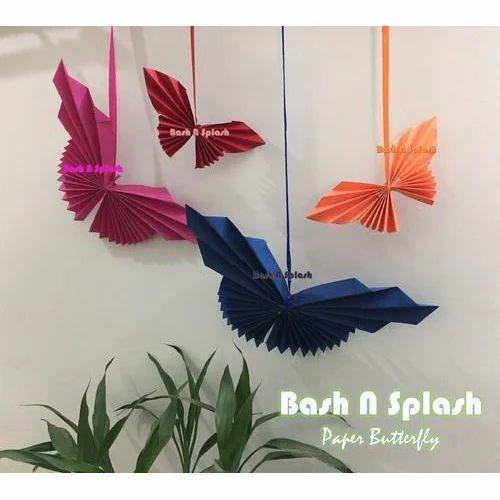 Handmade Paper Butterfly Handmade Decorations Items Bash N Splash