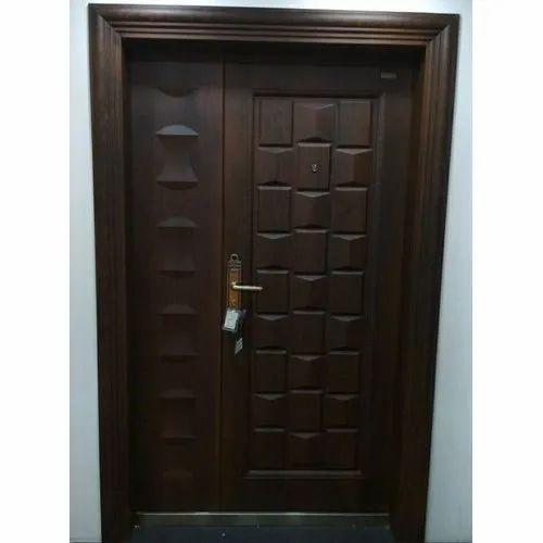 Wood Finish Entrance Steel Door