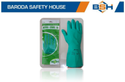 Green Diamond Nitrile Gloves With Flock Lining 13 Inch, Size: Extra Large