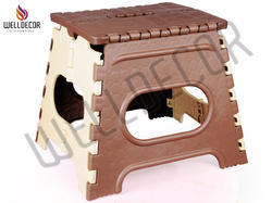 Plastic Folding Stool 12 Inch (coffee & Ivary)