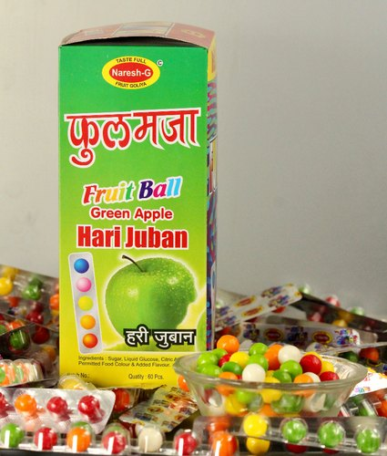 Naresh G 12 Months Mix Fruit Candy, Packaging Type: Packet