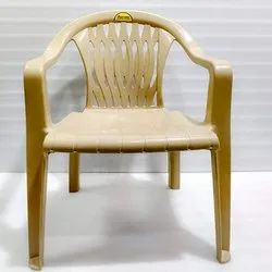 Cream With Hand Rest (Arms) Supreme Continental Plastic Chair