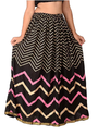 Rayon Gold Print Skirt