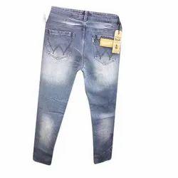 Faded Regular Fit Mens Denim Jeans, Waist Size: 30