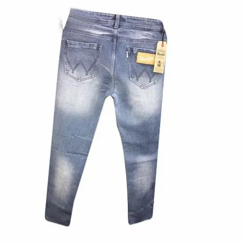 Faded Regular Fit Mens Denim Jeans, Waist Size: 30