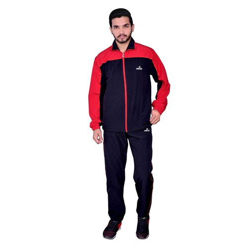 Meddy Sports Track Suit For Men In Black And Red