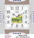 Priya Quartz Analog Designer Orange Wall Clock, Packaging Type: Box