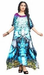 Printed Long Ankle Length Digital Kaftan Kurta
