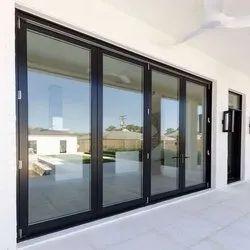 Aluminium Hinged Door, Thickness: 5 Mm