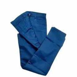 Cotton Formal Wear Mens Blue Trouser, Machine wash, Size: 28-34