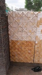 SGM Carved Sandstone  Brown Tiles