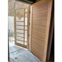 Wooden Mosquito Net Doors