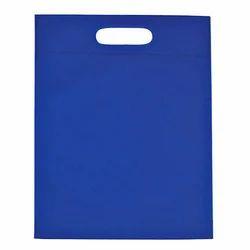 Blue D-Cut Non Woven Bags