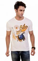 Men White Superbike T Shirt, Size: Large