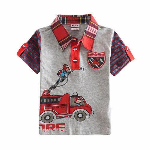 7a4ee225553c Boys Cotton Kids Polo Neck T-Shirt, Rs 60 /piece, Raj Garments   ID ...