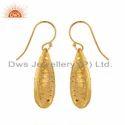 Handmade Yellow Gold Plated Brass Fashion Earrings Jewelry