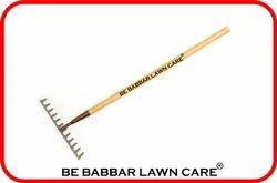 BE Babbar Lawn Care Garden Soil Rake With Wooden Handle