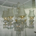 Contemporary Frosted Chandelier