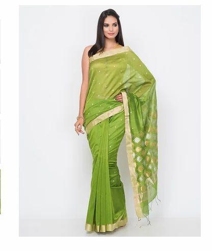 7d226104a Cotton Silk Chanderi Barfi Palla Saree at Rs 6990  piece