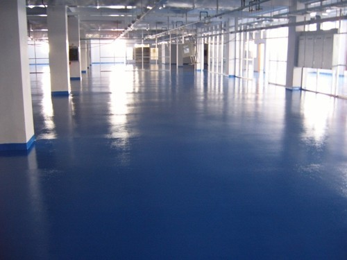 Blue And White Warehouse Epoxy Coating Rs 600 Square