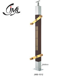 Designer Wooden Glass Railing Pillar