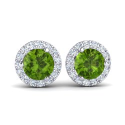 Silver Earring With Peridot Gemstone