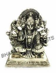 Silver plated Panchmukhi Hanuman