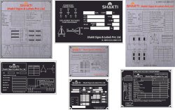 Transformer Rating Plates