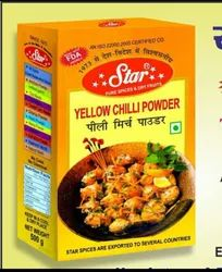 Star Yellow Chilli Powder, Packaging Type: Box, Packaging Size: 500 G