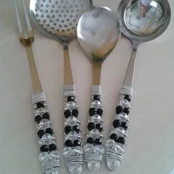 Beaded Kitchen Cooking Utensil Set