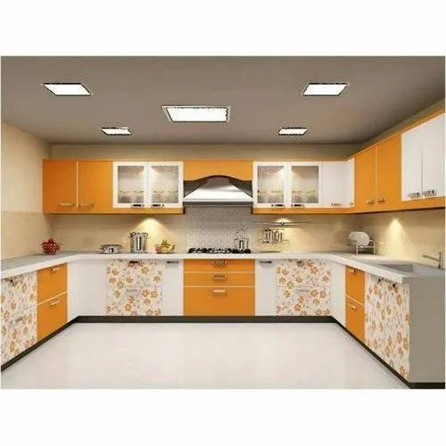 U Shape Pvc Modular Kitchen Kitchen Cabinets Rs 1200 Square Feet A And A Interior Decor Id 17863069955